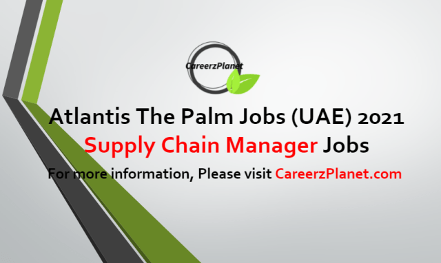 Supply Chain Manager Jobs in UAE 25 Jun 2021