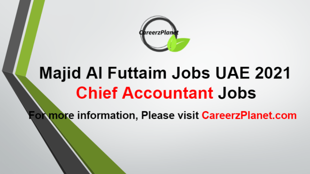 Chief Accountant Jobs in UAE 03 Aug 2021