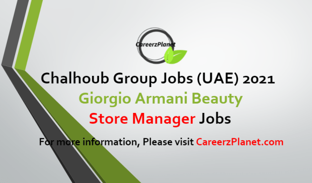 Store Manager Jobs in UAE 13 Jul 2021