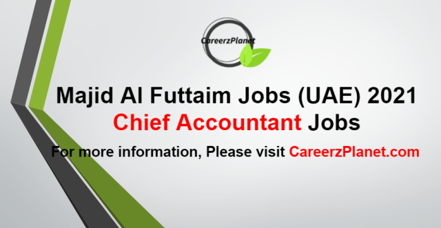 Chief Accountant Jobs in UAE 25 Aug 2021