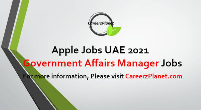 Government Affairs Manager Jobs in UAE 23 Aug 2021