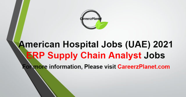 Supply Chain Analyst Jobs in UAE 02 Sep 2021
