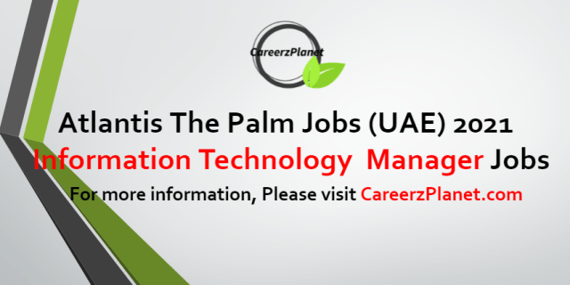 Information TechnologyManager Jobs in UAE 29 Aug 2021