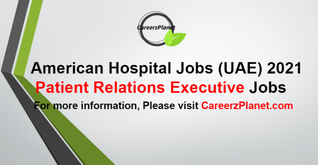 Patient Relations Executive Jobs in UAE 26 Aug 2021