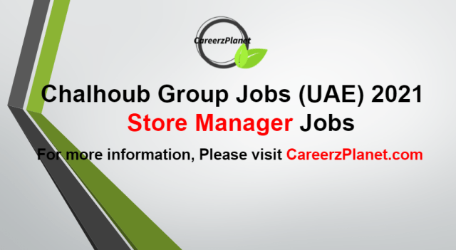 Store Manager Jobs in UAE 25 Aug 2021