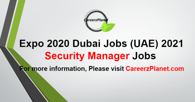 Security Manager Jobs in UAE 30 Aug 2021