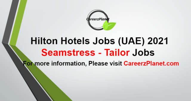 Seamstress - Tailor Jobs in UAE 26 Aug 2021