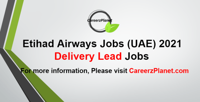Delivery Lead Jobs in UAE 05 Sep 2021