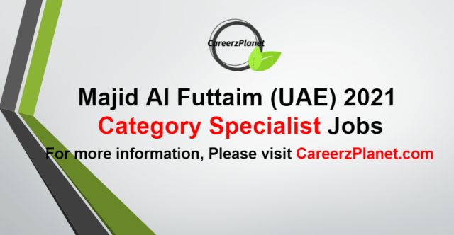 Category Specialist Jobs in UAE 02 Sep 2021
