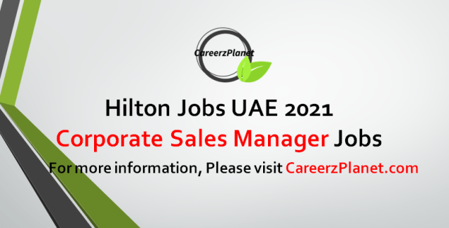 Corporate Sales Manager Jobs 15 Sep 2021