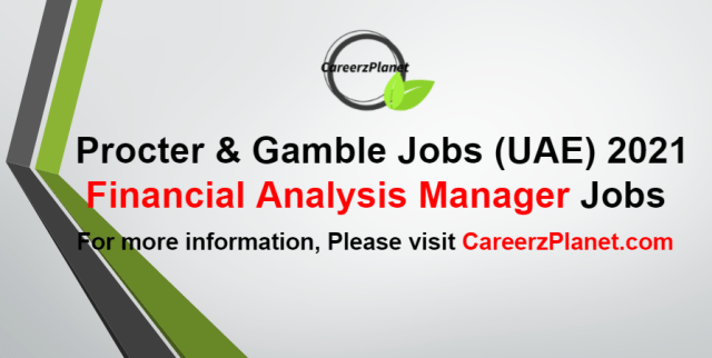 Financial Analysis Manager Jobs in UAE 02 Sep 2021