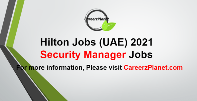 Security Manager Jobs in UAE 04 Sep 2021