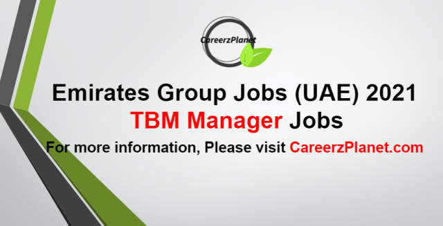 Technology Business Management (TBM) ManagerJobs in UAE 02 Sep 2021