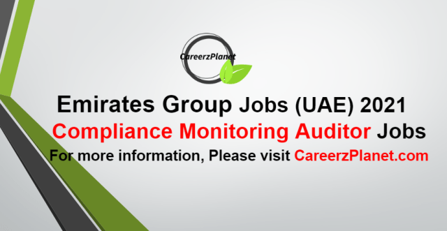 Compliance Monitoring AuditorJobs in UAE 07 Oct 2021