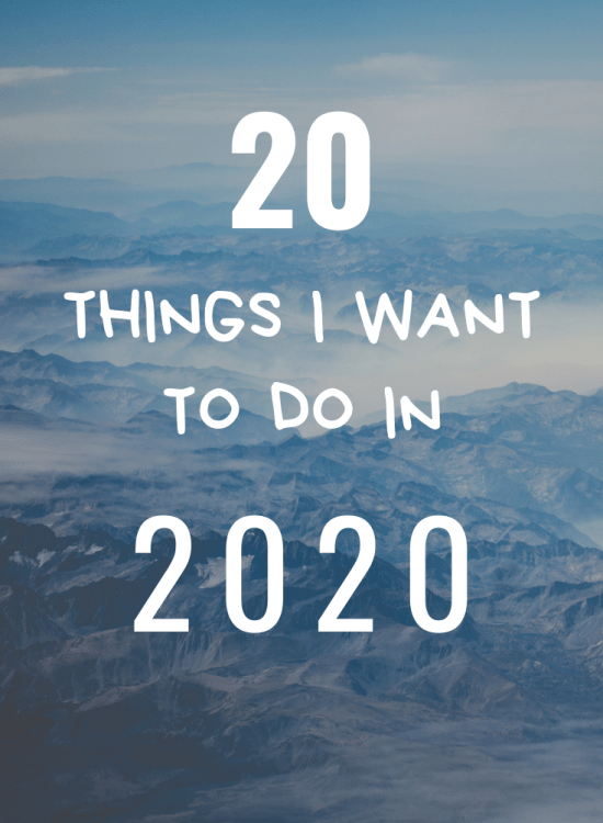 2020 to-do list