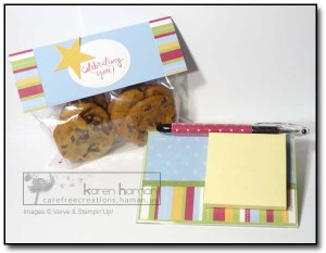 Post-it Note Holder and Sweets