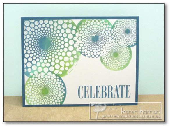 by Karen @ Carefree Creations - Blue Green Watercolor Spots