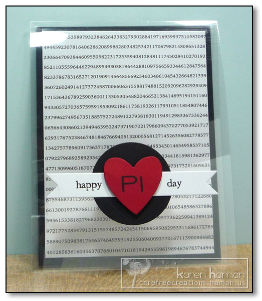 by Karen @ Carefree Creations - Happy Pi Day