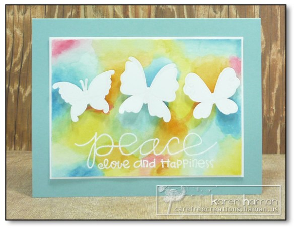 by Karen @ Carefree Creations - watercolor background