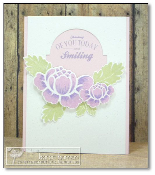 by Karen @ carefree creations - Purple Roses