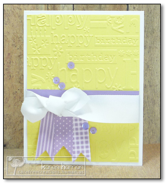 by Karen @ carefree creations - Birthday Impressions