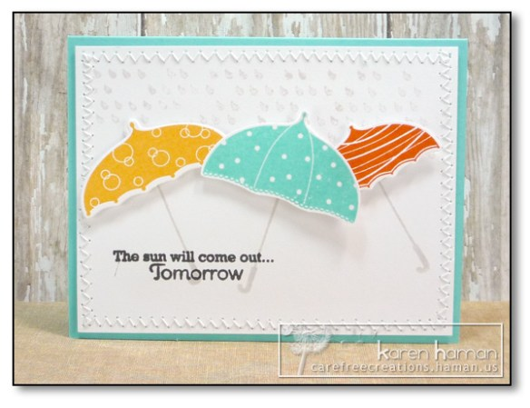 by Karen @ carefree creations - Sun Will Come Out Tomorrow