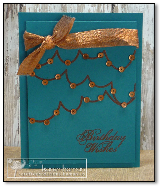 by Karen @ carefree creations - Copper Streamers