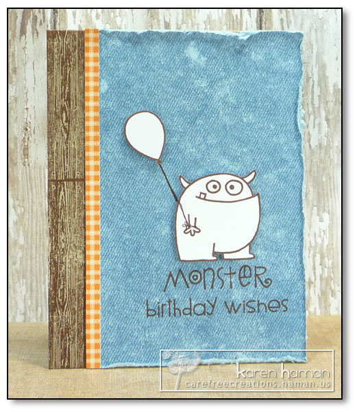 by Karen @ carefree creations - Monster Birthday