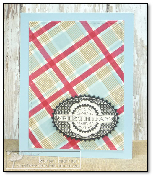by Karen @ carefree creations - Birthday Plaid