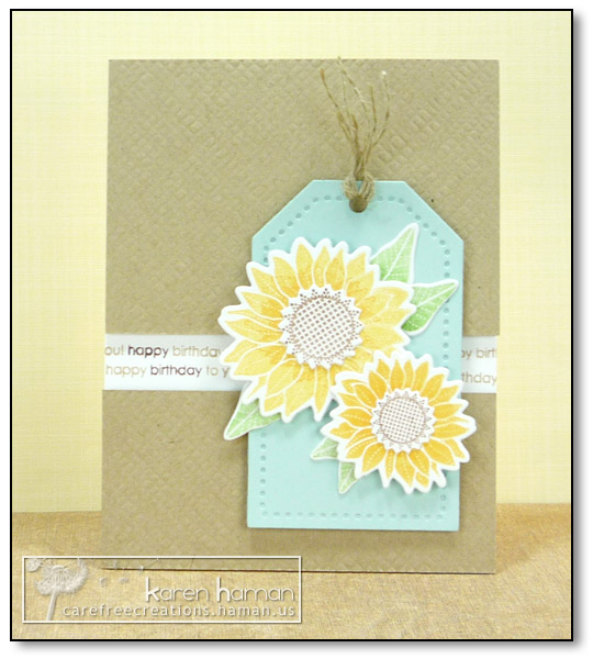 by Karen @ carefree creations - Sunflower Tag