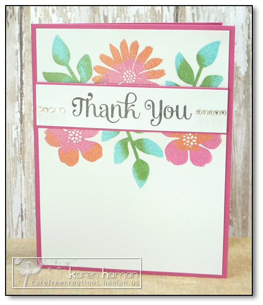 by Karen @ carefree creations - Dual Embossed Flowers