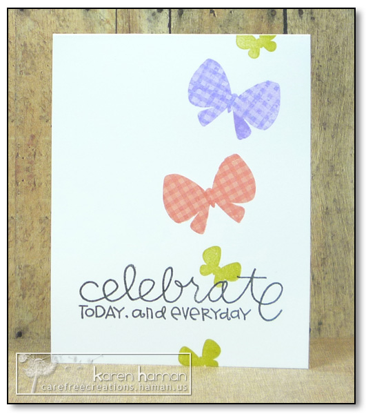 by karen @ carefree creations - One Layer Butterflies