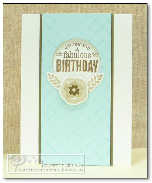 by karen @ carefree creations - Fabulous Birthday