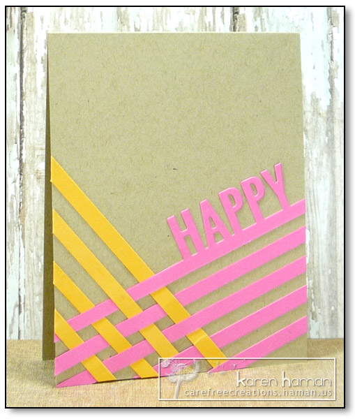 by karen @ carefree creations - Happy Woven Stripes