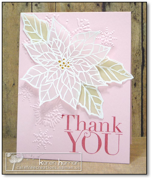 by karen @ carefree creations - Poinsettia Thank You