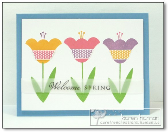 by karen @ carefree creations - Welcome Spring