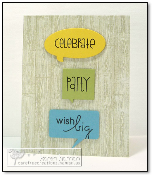 by karen @ carefree creations - Party Words