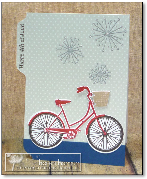 Patriotic Pedaling - by karen @ carefree creations