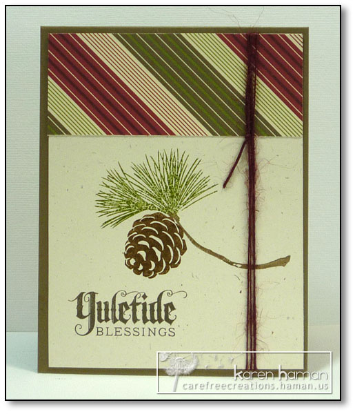 Yuletide Blessings - by karen @ carefree creations