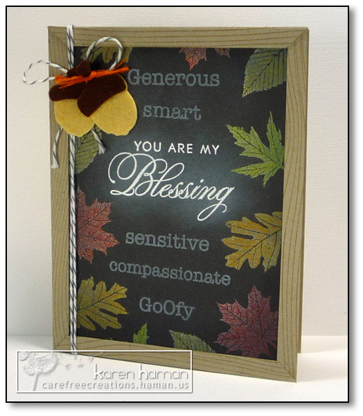 Chalkboard Blessing - by karen @ carefree creations