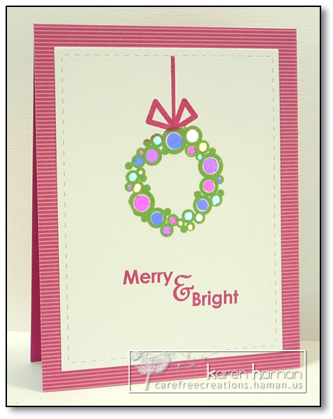 Shiny Wreath | by karen @ carefree creations