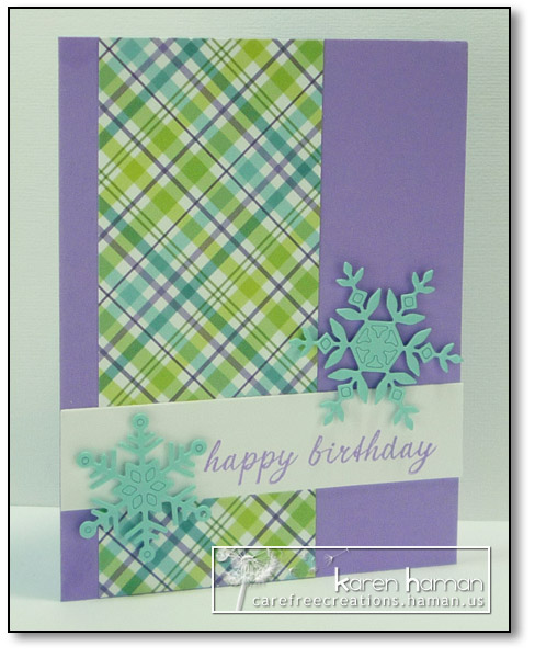 Plaid & Snowflakes | by karen @ carefree creations