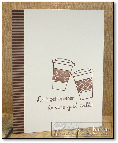 Coffee & Girl Talk | by karen @ carefree creations