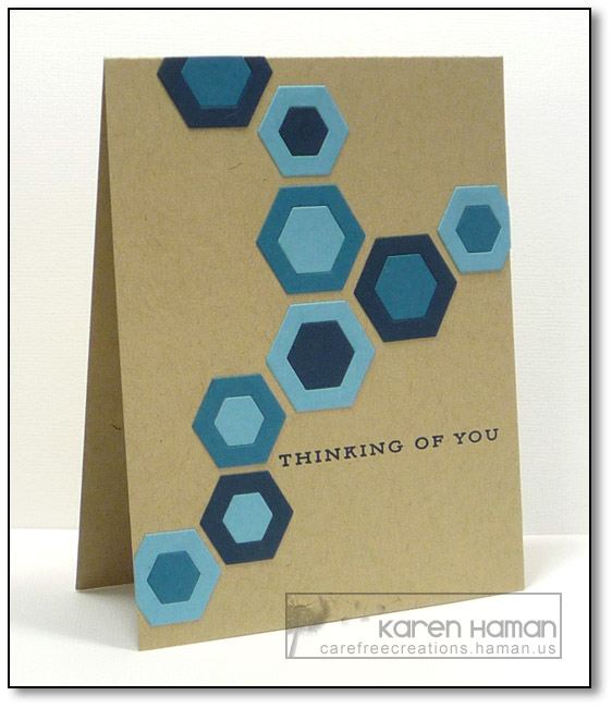 Blue Hexagons | by karen @ carefree creations