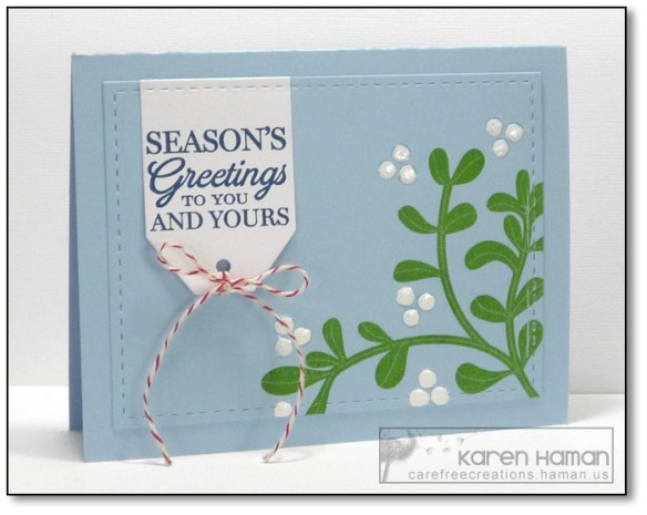 Mistletoe Greetings | by karen @ carefree creations