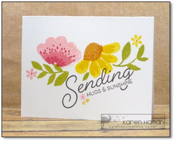 Sending Hugs & Sunshine | by karen @ carefree creations