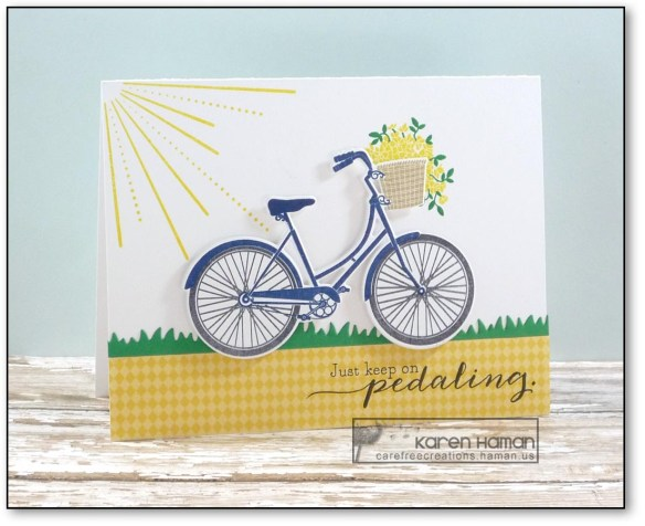 Keep Pedaling | by karen h @ carefree creations