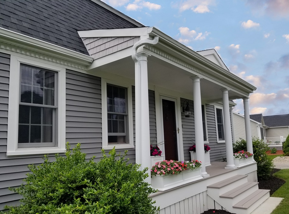 Vinyl Siding And Farmer S Porch Add Curb Appeal To