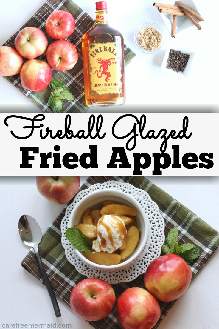 fireball glazed fried apples