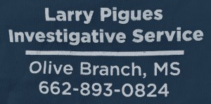 Larry Pigues, Investigative Service